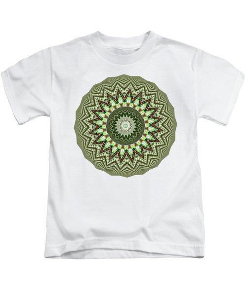 Dome Of Chains Mandala By Kaye Menner Kids T-Shirt