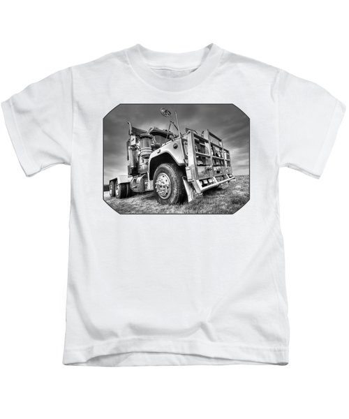 Done Hauling - Black And White Kids T-Shirt