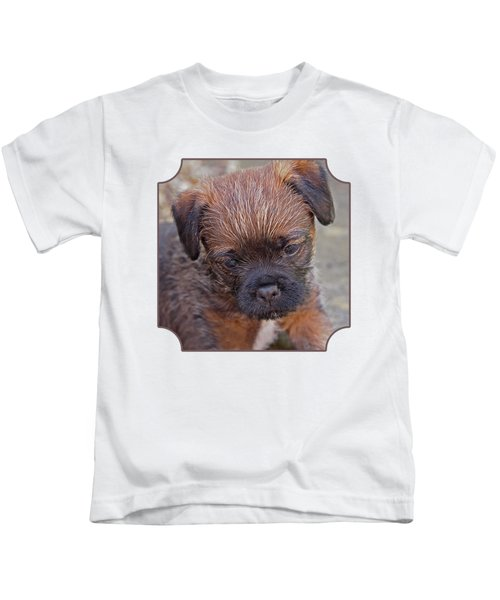 Don't Leave Me - Border Terrier Pupppy Kids T-Shirt