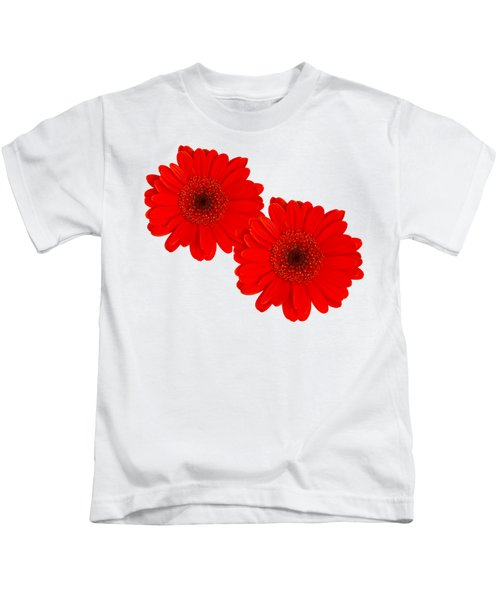 Double Gerbera Kids T-Shirt by Scott Carruthers