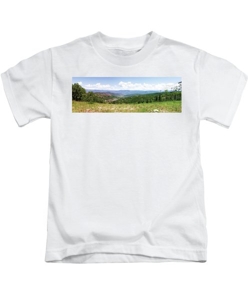 Down The Valley At Snowmass #2 Kids T-Shirt
