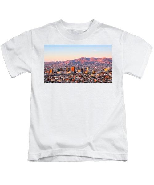 Downtown El Paso Sunrise Kids T-Shirt