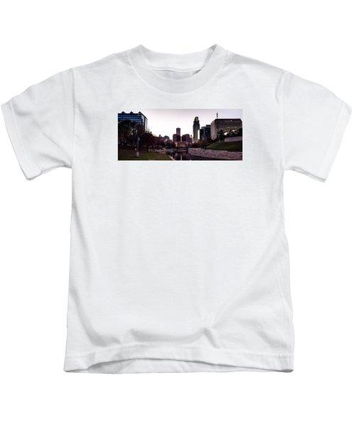 Downtown Omaha At Sunset Kids T-Shirt