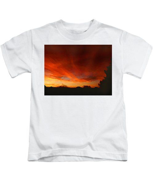 Drama At Sunrise Kids T-Shirt