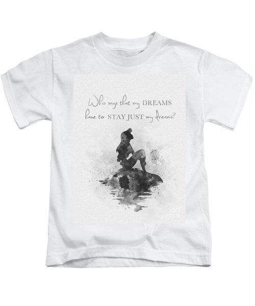 Dreams Black And White Kids T-Shirt