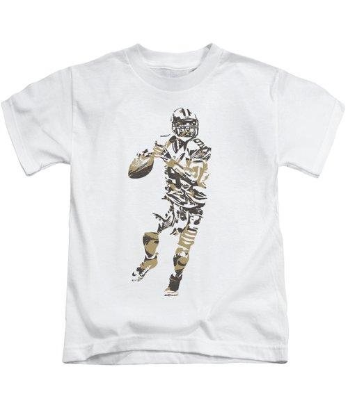 Drew Brees New Orleans Saints Pixel Art T Shirt 1 Kids T-Shirt