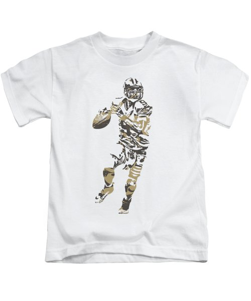 Drew Brees New Orleans Saints Pixel Art T Shirt 1 Kids T-Shirt