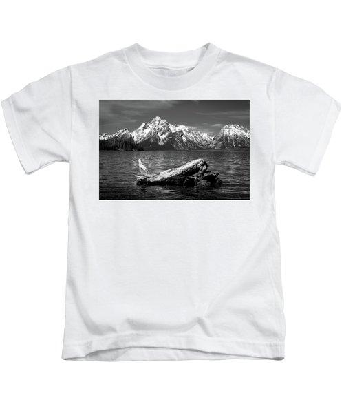 driftwood and Mt. Moran Kids T-Shirt