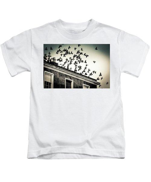 Flight Over Oscar Wilde's Hood, Dublin Kids T-Shirt