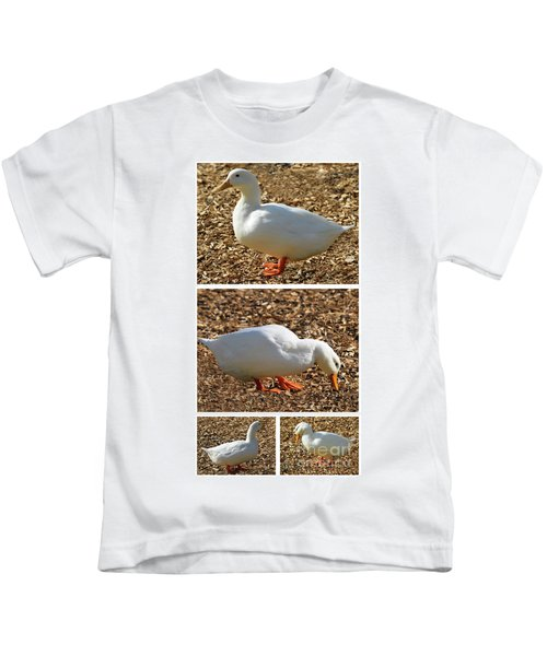 Duck Collage Mixed Media A51517 Kids T-Shirt
