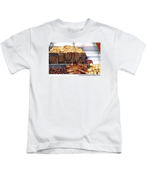 Duck Heads In Soy Sauce And Rice And Blood Cakes Kids T-Shirt