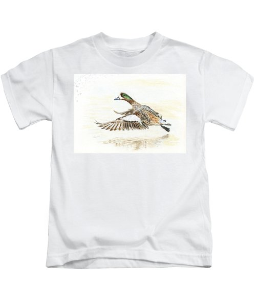 Duck Taking Off. Kids T-Shirt
