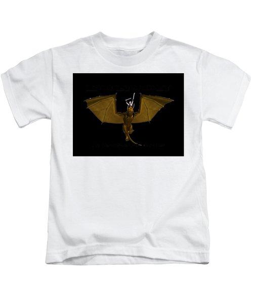 Dunjon T-shirt Print 2 White Kids T-Shirt
