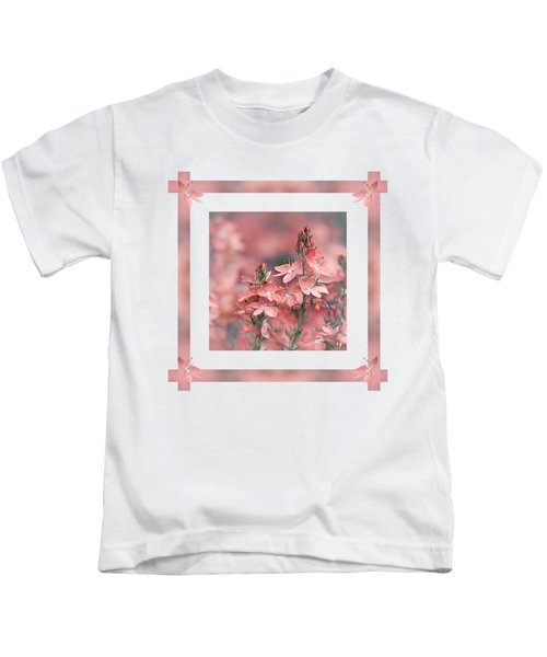 Dusky Pink Ribbons Kids T-Shirt
