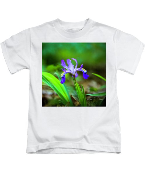 Dwarf Crested Iris Kids T-Shirt