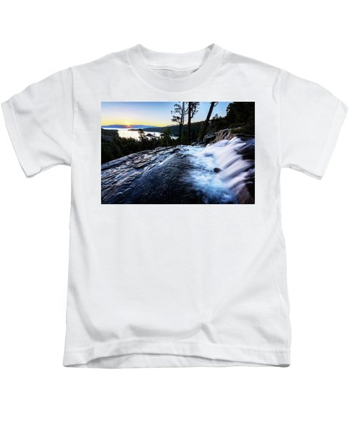 Eagle Falls At Emerald Bay Kids T-Shirt