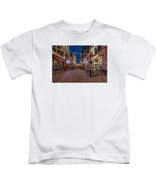 Early Evening On E. 4th Kids T-Shirt