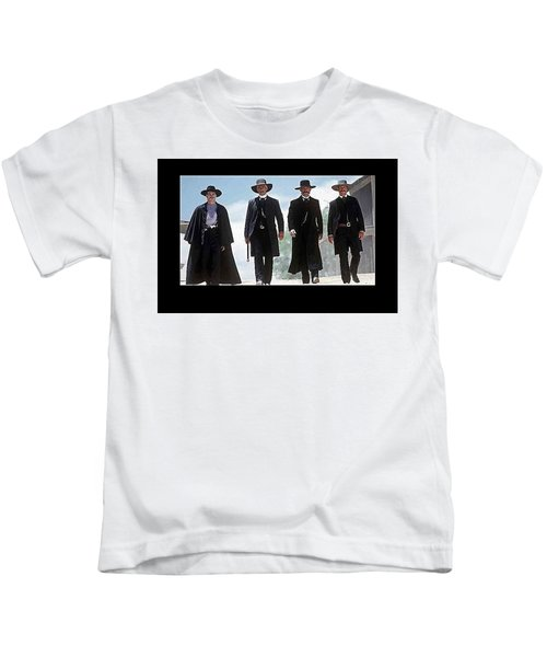 Earp Brothers And Doc Holliday Approaching O.k. Corral Tombstone Movie Mescal Az 1993-2015 Kids T-Shirt