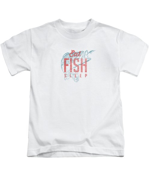 Eat Fish Sleep Tee Kids T-Shirt