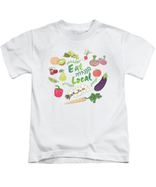 Eat Local  Kids T-Shirt