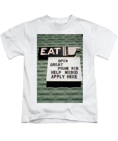 Eat Sign Kids T-Shirt