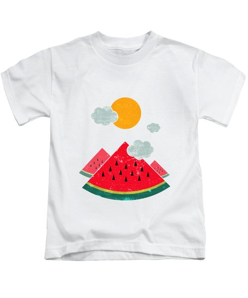 Eatventure Time Kids T-Shirt by Mustafa Akgul