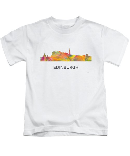 Edinburgh Scotland Skyline Kids T-Shirt