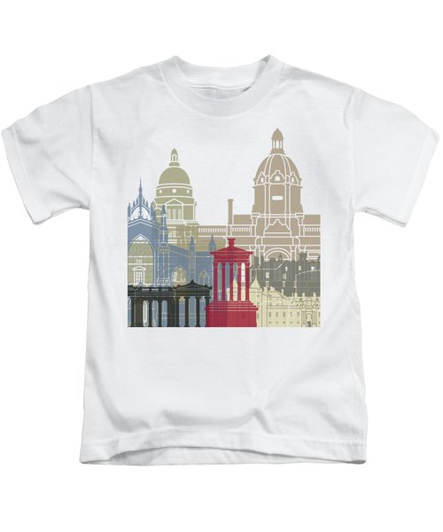 Edinburgh Skyline Poster Kids T-Shirt