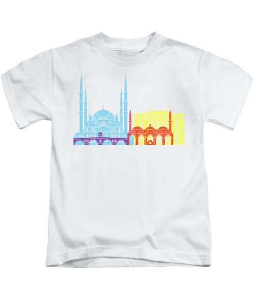 Edirne Skyline Pop Kids T-Shirt