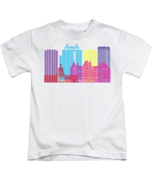 Edmonton V2 Skyline Pop Kids T-Shirt