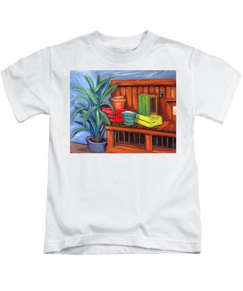 Edwards Nursery Potting Bench Kids T-Shirt