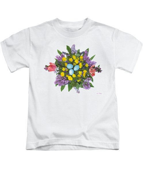 Eggs In Dandelions, Lilacs, Violets And Tulips Kids T-Shirt