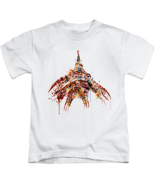 Eiffel Tower Watercolor Kids T-Shirt