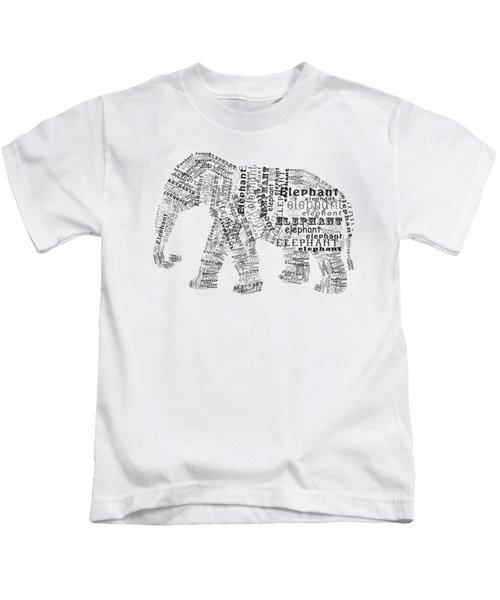 Elefont Noir Kids T-Shirt by Heather Applegate