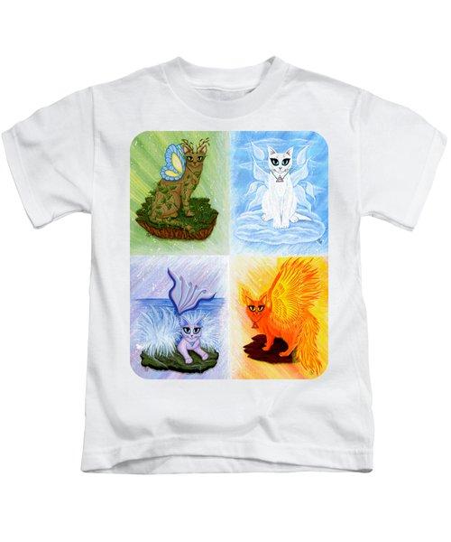 Elemental Cats Kids T-Shirt