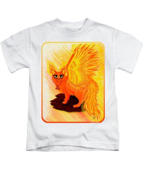 Elemental Fire Fairy Cat Kids T-Shirt