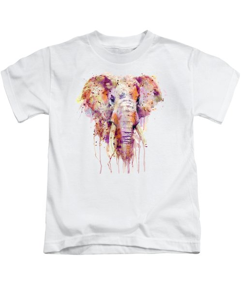 Elephant  Kids T-Shirt by Marian Voicu