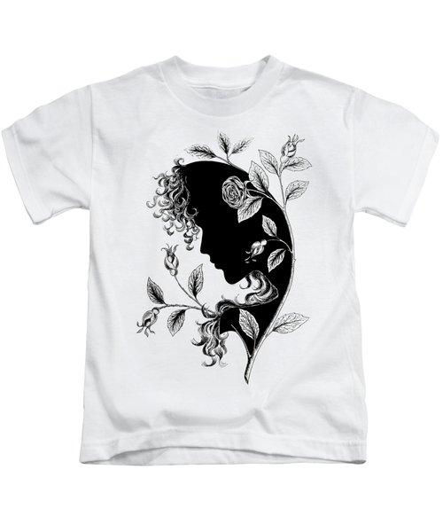Elf In Roses Kids T-Shirt by Magdalene's Art