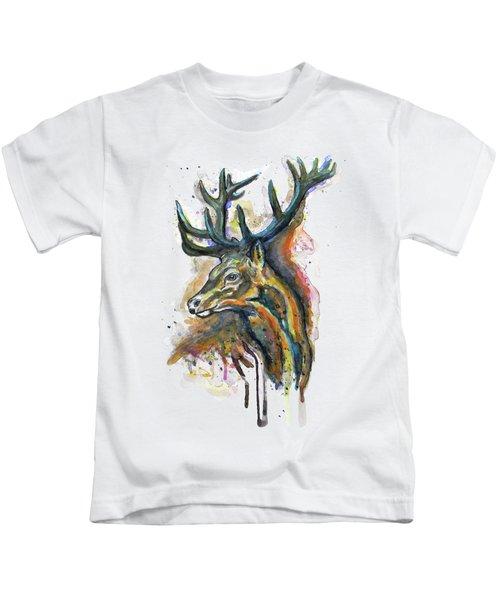 Elk Head Kids T-Shirt