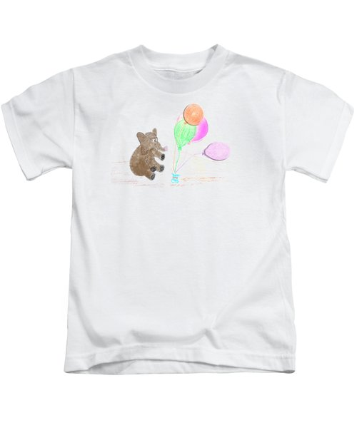 Ellie And Balloons Kids T-Shirt