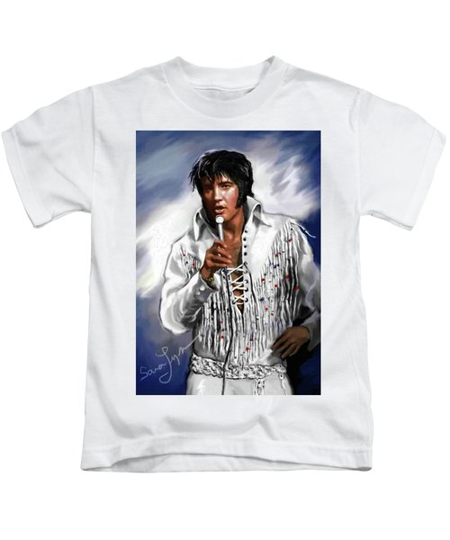 Elvis Presley Art 9 Kids T-Shirt