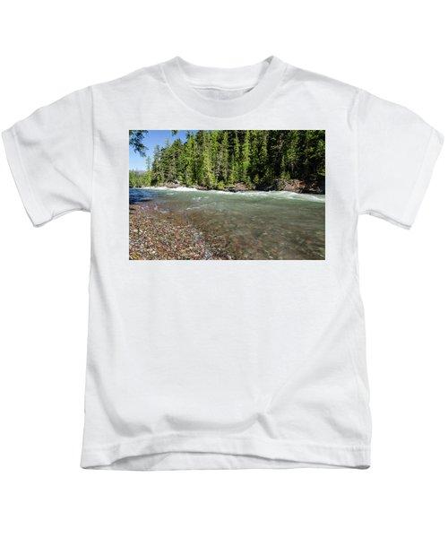 Emerald Waters Flow Kids T-Shirt