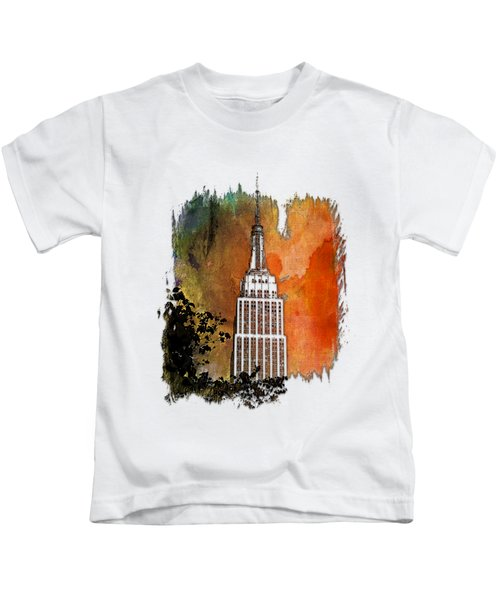 Empire State Of Mind Earthy Rainbow 3 Dimensional Kids T-Shirt
