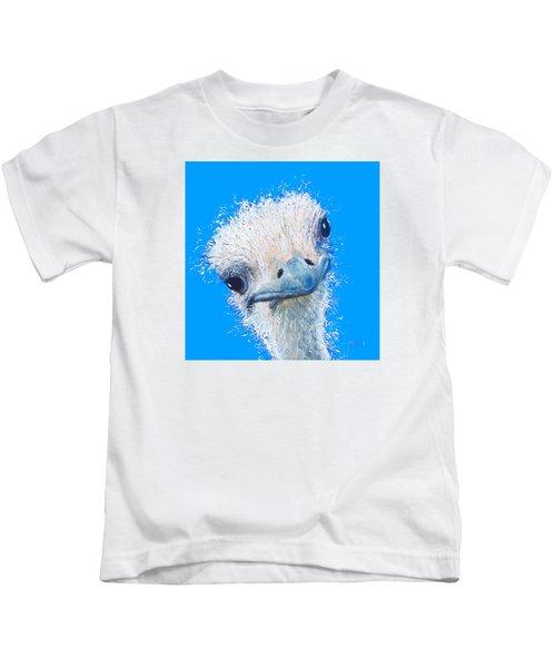 Emu Painting Kids T-Shirt by Jan Matson