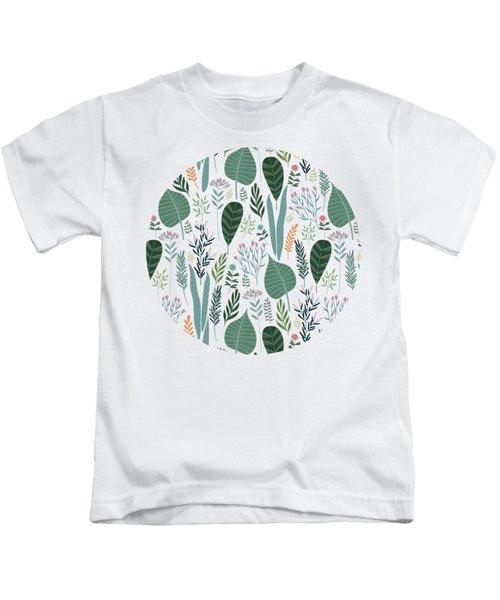 End Of Winter Spring Thaw Garden Pattern Kids T-Shirt