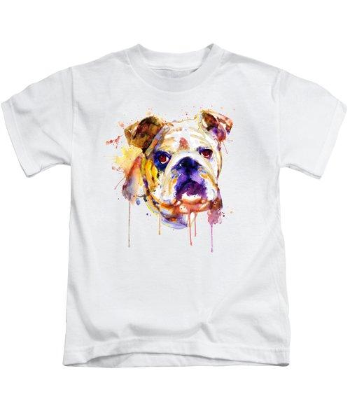 English Bulldog Head Kids T-Shirt