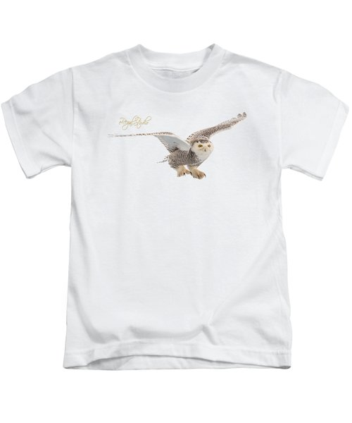 eRegal Studio Snowy Owl graphic Kids T-Shirt