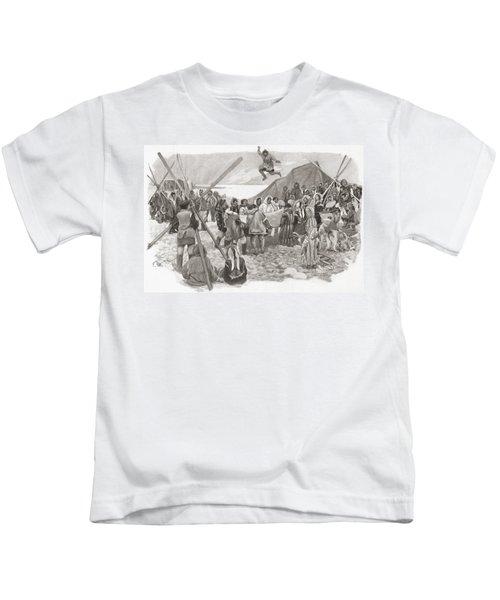 Eskimos Dancing During The Great Feast Kids T-Shirt