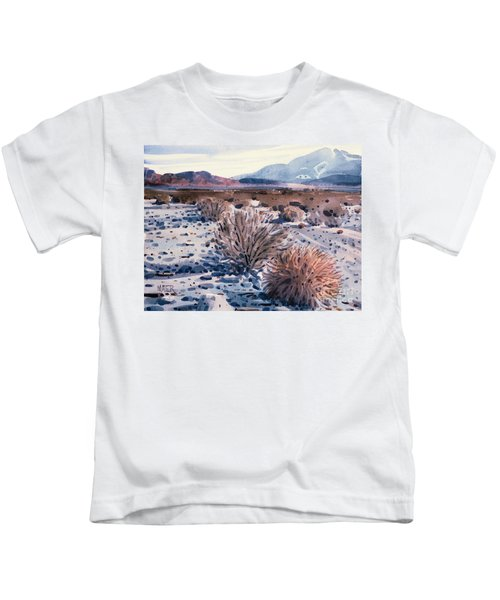 Evening In Death Valley Kids T-Shirt by Donald Maier
