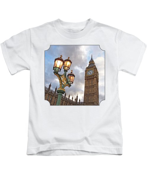 Evening Light At Big Ben Kids T-Shirt by Gill Billington